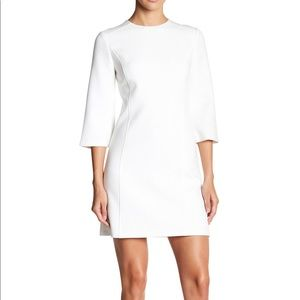 NWT Alice + Olivia White 3/4 Sleeve Dress